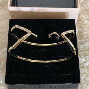 Victoria's Secret bangle cuff and earrings